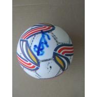 Футбольный мяч с автографом  Василия Кулькова (автограф: Василий Кульков, автограф Виктор Самохин)