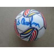 Футбольный мяч с автографом  Виктора Самохина(автограф: Виктор Самохин, автограф: Василий Кульков)