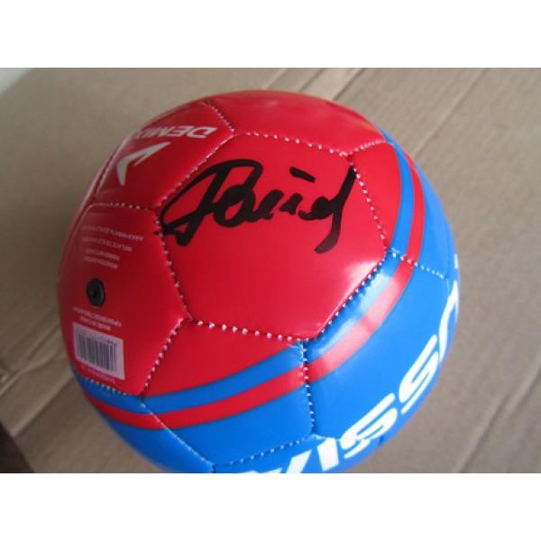 Футбольный мяч с автографом Евгения Ловчева(автограф: Евгений Ловчев)